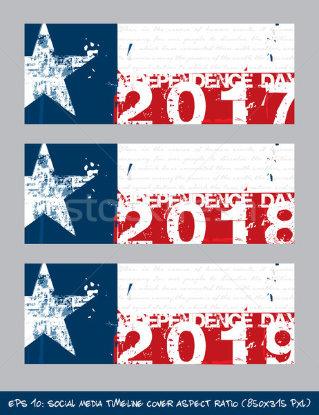 Texan Flag Independence day timeline cover - Artistic Brush Stro Stock photo © nazlisart