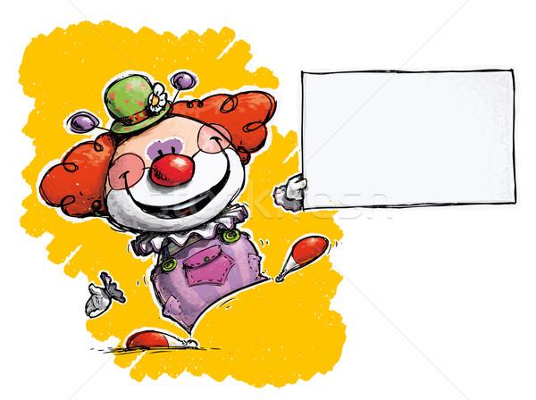 Clown Holding Business Card Stock photo © nazlisart