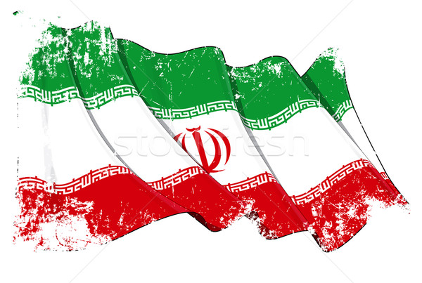 Iranian Flag Grunge Stock photo © nazlisart
