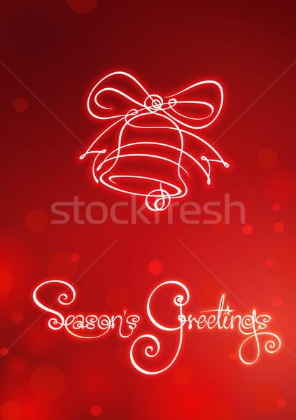 Seasons Greetings - Christmas Bell  Stock photo © nazlisart