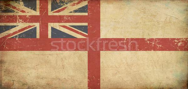 British Naval Ensign Flat Aged Stock photo © nazlisart