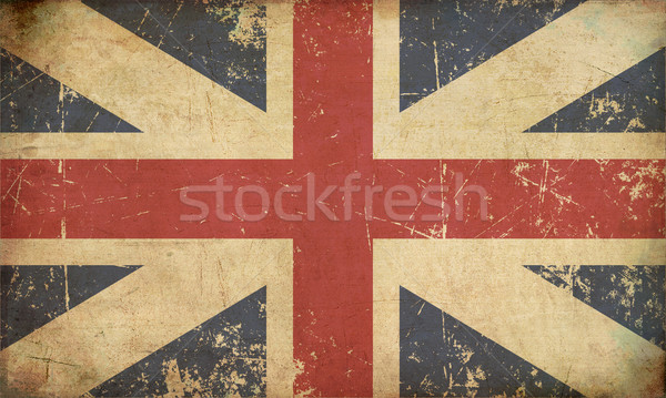 Union Jack 1606–1801 (The King's Colours) Flat Aged Stock photo © nazlisart