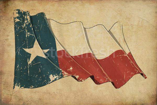Texan Grunge Flag Textured Background Wallpaper Stock photo © nazlisart