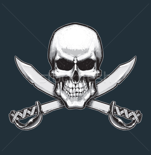 Pirates Skull and Swords Stock photo © nazlisart