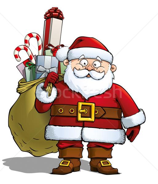 Santa Holding a Gift Sack Stock photo © nazlisart