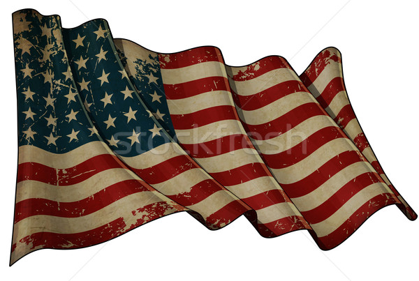 US Flag WWI-WWII (48 stars) Historic Flag Stock photo © nazlisart