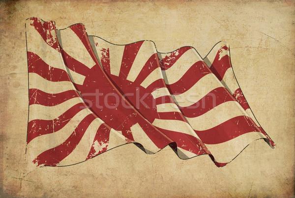 Japão histórico bandeira papel de parede papel Foto stock © nazlisart