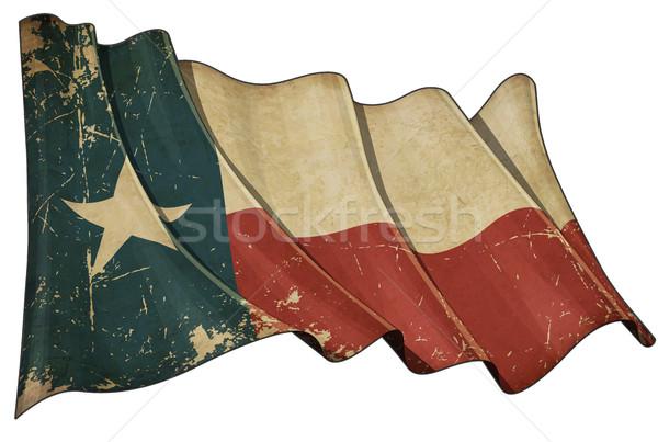 Texan Aged flag Stock photo © nazlisart
