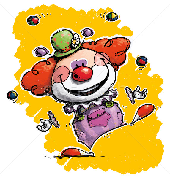 Clown jongleren illustratie eps10 20 illustraties Stockfoto © nazlisart
