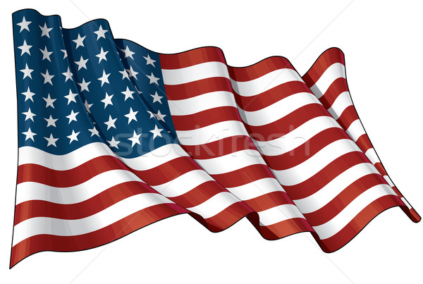 US Flag WWI-WWII (48 stars) Stock photo © nazlisart