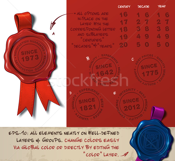 Wax Seal - Since Year Stock photo © nazlisart