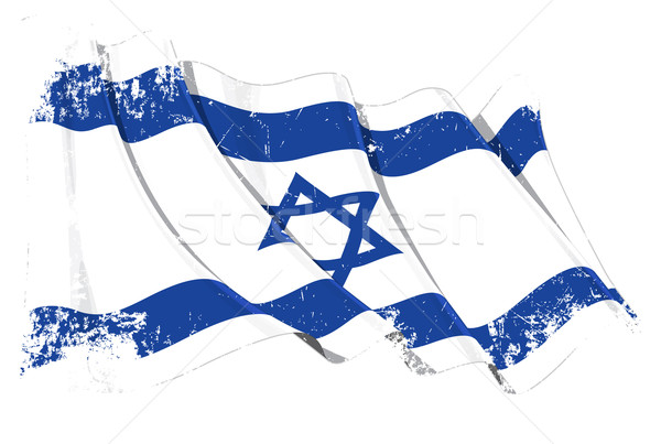 Grunge bandeira Israel ilustração israelense Foto stock © nazlisart