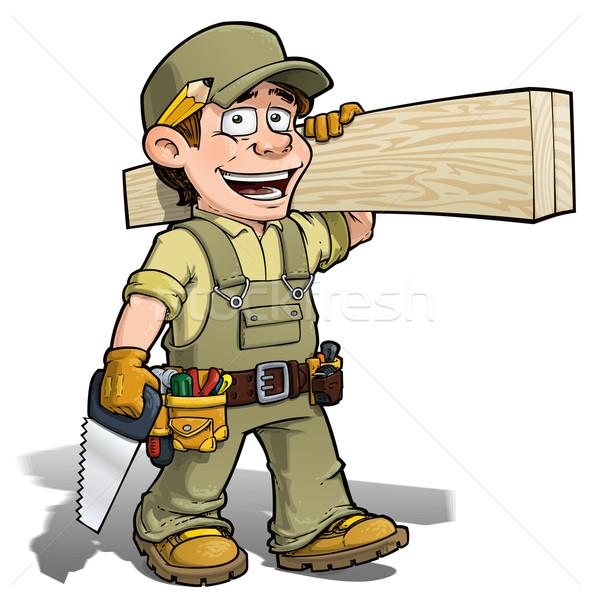 Handyman - Carpenter Khaki Stock photo © nazlisart
