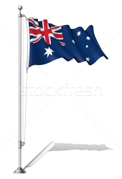 Bandeira pólo Austrália australiano separado Foto stock © nazlisart