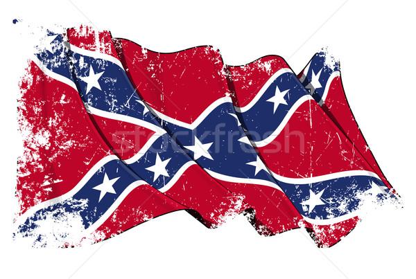 мятежник флаг Гранж гранж текстур слой Сток-фото © nazlisart