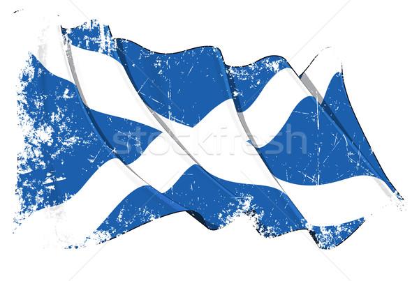 Grunge Flag of Scotland Stock photo © nazlisart