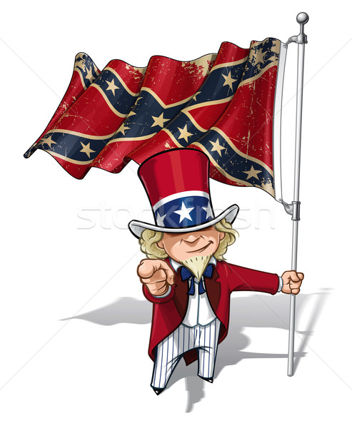 Dixie Sam I Want You Stars and Bars Stock photo © nazlisart