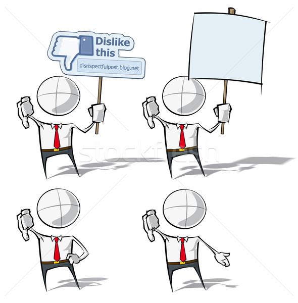 Simple gente de negocios aversión establecer vector Foto stock © nazlisart