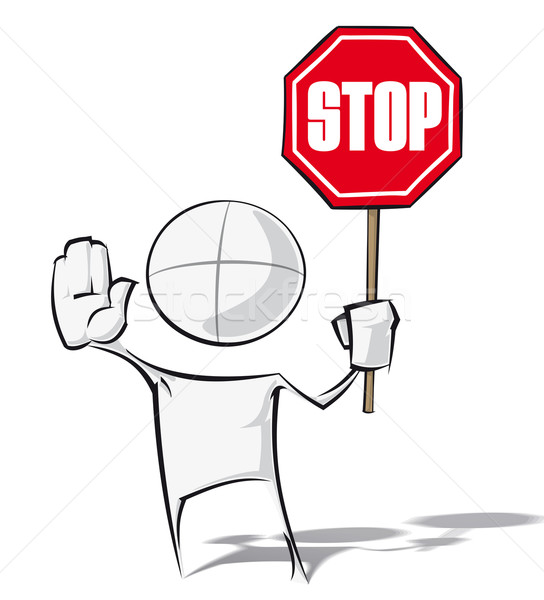 Simple People - Stop Stock photo © nazlisart