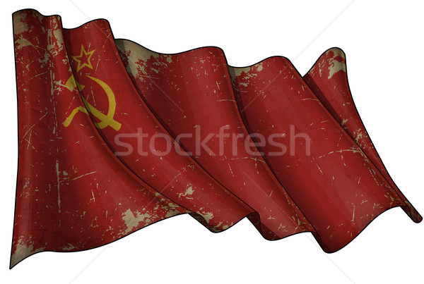 Soviet Union Historic Flag Stock photo © nazlisart