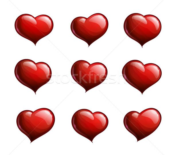 Nine Red Hearts Stock photo © nazlisart