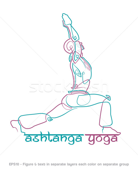 Ashtanga Yoga Logo 1 Stock photo © nazlisart