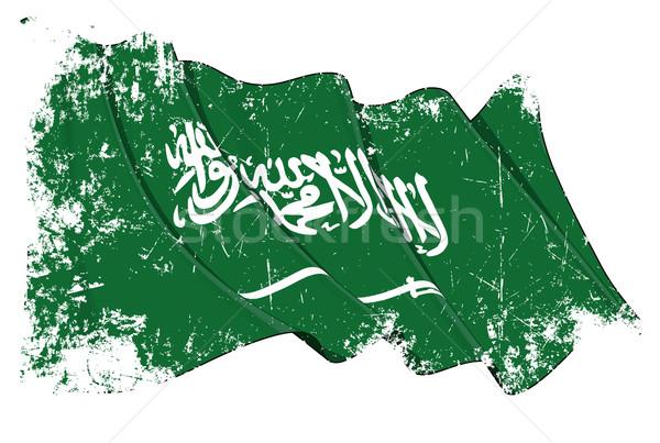 Suudi bayrak grunge örnek Stok fotoğraf © nazlisart
