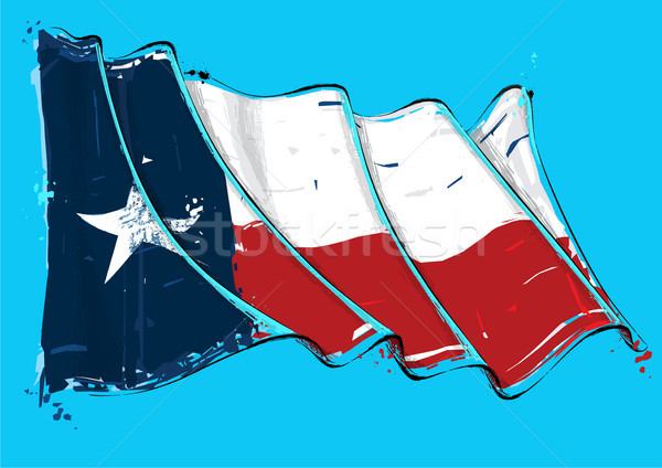 Texan Artistic Brush Stroke Waving Flag Stock photo © nazlisart