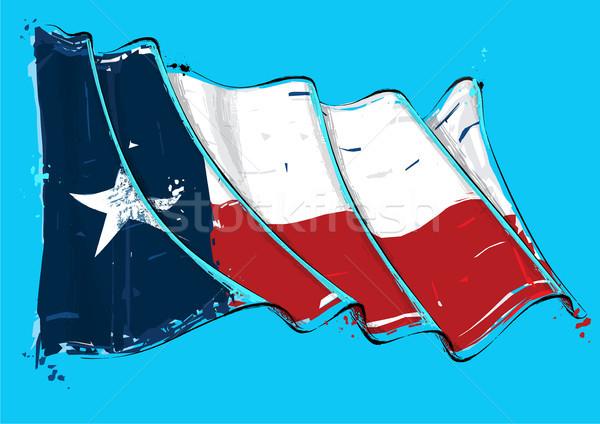 Artistiek borstel vlag vector illustratie Stockfoto © nazlisart