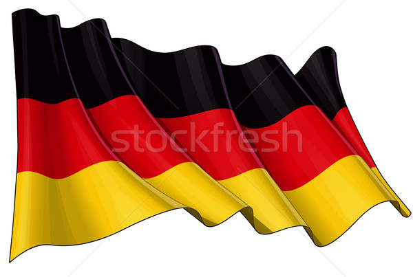 National Flag of Germany Stock photo © nazlisart