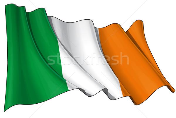 Flag of Ireland Stock photo © nazlisart