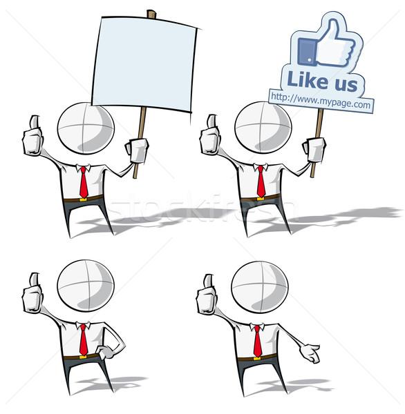 Simple Business People - Like Stock photo © nazlisart