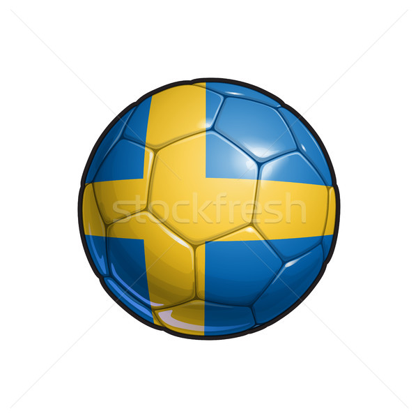 Swedish Flag Football - Soccer Ball Stock photo © nazlisart