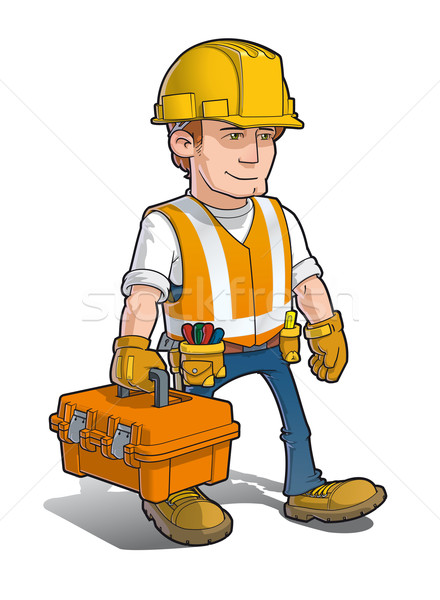 Construction Worker - Carying a Toolkit Stock photo © nazlisart