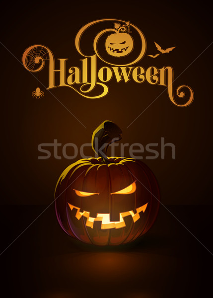 Jack-o-Lantern Dark Mean n Toothy Stock photo © nazlisart