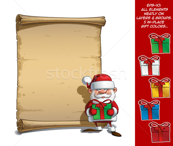 Feliz rolar presentes vetor Foto stock © nazlisart