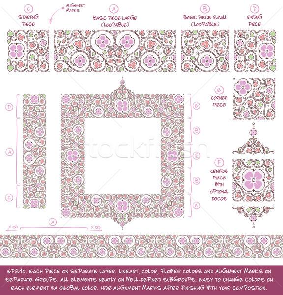 Flower Decorative Ornaments Building Kit - Lilac Stock photo © nazlisart