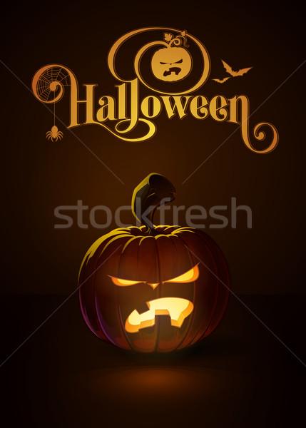 Jack-o-Lantern Dark Angry Teeth Stock photo © nazlisart