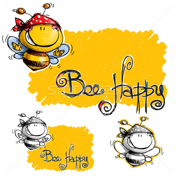 Bee Happy Stock photo © nazlisart