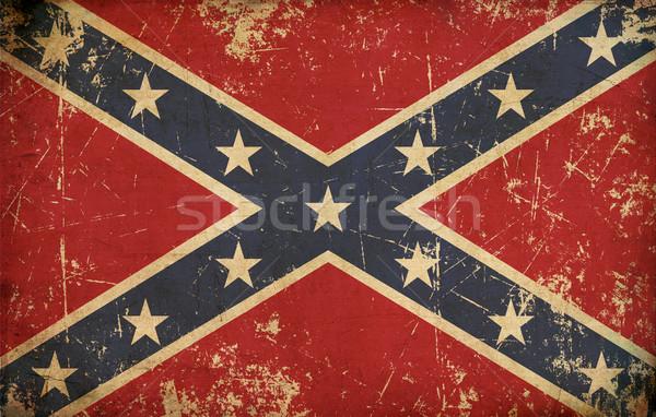 звезды баров старые мятежник битва флаг Сток-фото © nazlisart