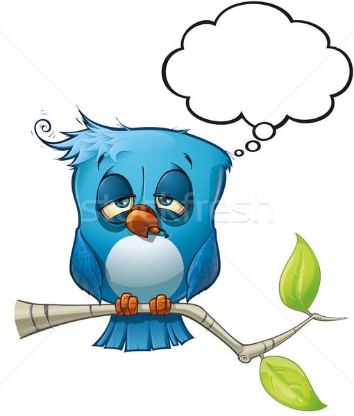 Niebieski ptaków kac stylu komentarze Zdjęcia stock © nazlisart