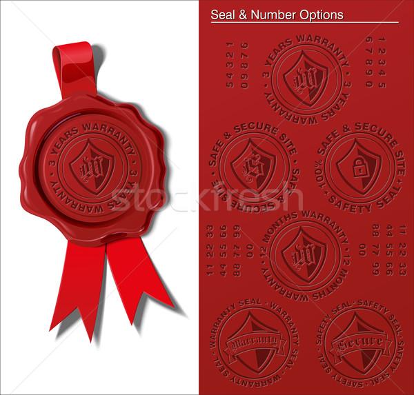 Wax Seal - Warranty & Safety Seal Stock photo © nazlisart