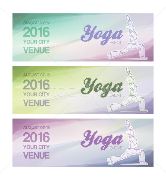 Yoga Event Banners Stock photo © nazlisart