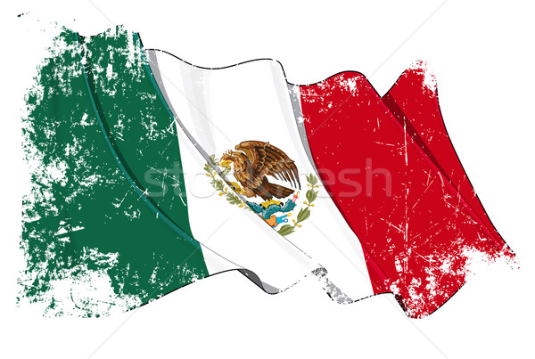 Mexican Flag Grunge Stock photo © nazlisart