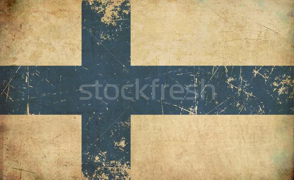 Finnish Flag Flat Aged Stock photo © nazlisart