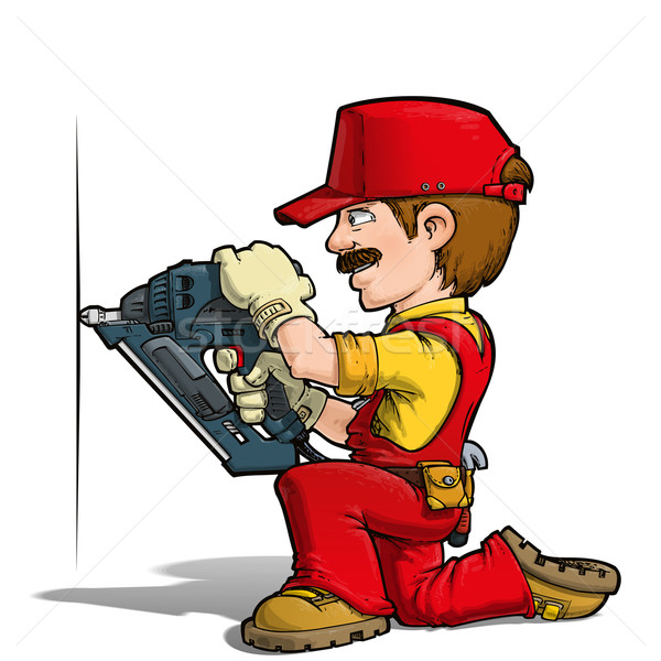 Handyman - Nailing Red Stock photo © nazlisart