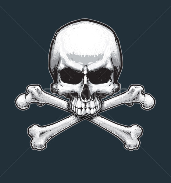 Pirates Jawless Skull and Bones Stock photo © nazlisart