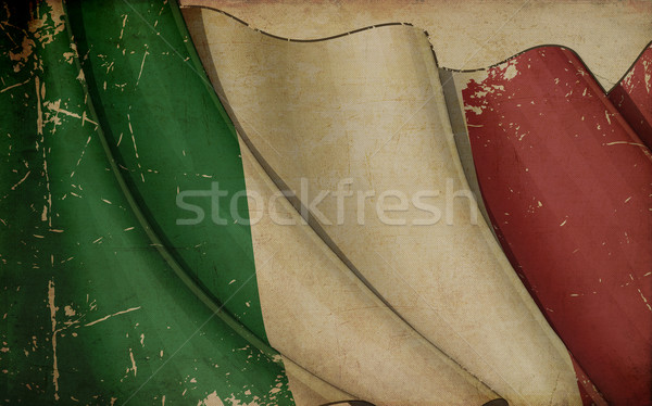 Italian Flag Old Paper Stock photo © nazlisart