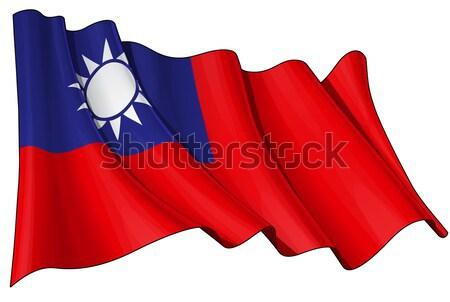 Flag of Taiwan Stock photo © nazlisart