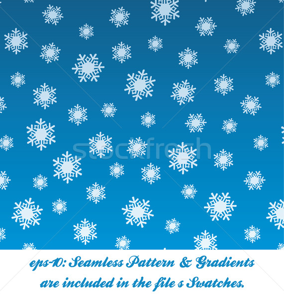 Christmas Snow Pattern Stock photo © nazlisart